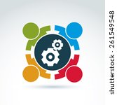 vector illustration of gears  ...   Shutterstock .eps vector #261549548