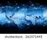 best internet concept of global ... | Shutterstock . vector #261571445