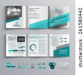 gray brochure template design... | Shutterstock .eps vector #261580442
