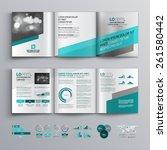 gray brochure template design... | Shutterstock .eps vector #261580442