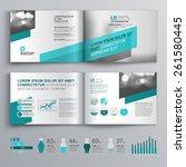 gray brochure template design... | Shutterstock .eps vector #261580445