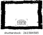 grunge frame   abstract texture.... | Shutterstock .eps vector #261584585