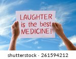 laughter is the best medicine... | Shutterstock . vector #261594212