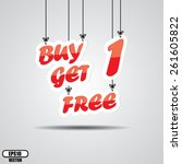 buy one get one free ... | Shutterstock .eps vector #261605822