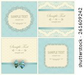 vintage invitation cards with... | Shutterstock .eps vector #261609242