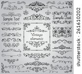 decorative vintage hand drawn...