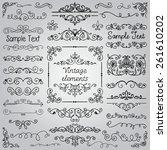 decorative vintage hand drawn... | Shutterstock .eps vector #261610202