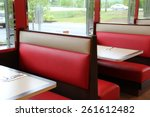 Red And Tan Leather Booths Set...