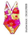 one piece swimsuit | Shutterstock . vector #261619808