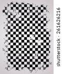 grunge racing flag | Shutterstock .eps vector #261626216