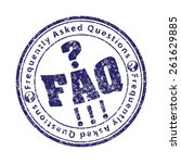 faq  frequently asked questions ...   Shutterstock .eps vector #261629885