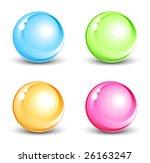 shiny orbs | Shutterstock .eps vector #26163247