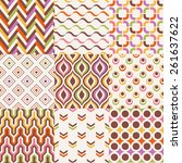seamless colorful retro... | Shutterstock .eps vector #261637622