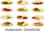 vector illustration of danish... | Shutterstock .eps vector #261643136