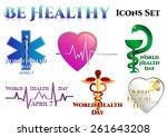 medical symbols on white. world ... | Shutterstock .eps vector #261643208