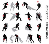 rugby action group poses... | Shutterstock .eps vector #26164612