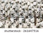 Group Of Zebra Ceramic Doll