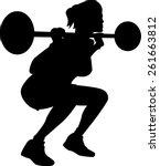 exercising woman silhouette | Shutterstock .eps vector #261663812