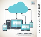 cloud computing   devices... | Shutterstock .eps vector #261665402