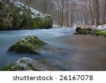 low angle view on a river in... | Shutterstock . vector #26167078