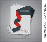 modern flat origami paper...
