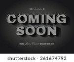 vintage movie or retro cinema... | Shutterstock .eps vector #261674792