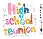 high school reunion decorative... | Shutterstock .eps vector #261675086