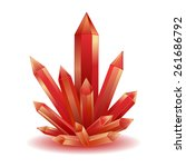red crystal isolated vector... | Shutterstock .eps vector #261686792