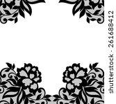 white flower frame  lace... | Shutterstock .eps vector #261688412
