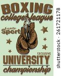 boxing league | Shutterstock .eps vector #261721178