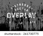 vector distressed grunge and... | Shutterstock .eps vector #261730775