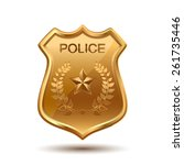 gold police badge isolated on... | Shutterstock .eps vector #261735446