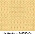 seamless tacha brown isometric... | Shutterstock . vector #261740606