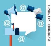 email concept design  vector... | Shutterstock .eps vector #261758246
