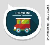 transportation car flat icon...   Shutterstock .eps vector #261766256
