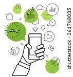 communicating via modern... | Shutterstock .eps vector #261768035