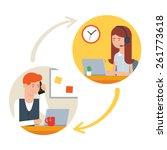 user support service  call... | Shutterstock .eps vector #261773618