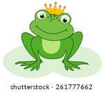cute little frog prince with a... | Shutterstock .eps vector #261777662