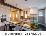 modern  bright  clean  kitchen... | Shutterstock . vector #261782708
