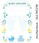 illustration of a baby shower... | Shutterstock .eps vector #261785198
