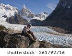 trekking to the cerro torre... | Shutterstock . vector #261792716