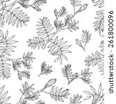 seamless floral vector pattern  ...   Shutterstock .eps vector #261800096