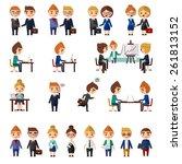 business office people set. | Shutterstock .eps vector #261813152