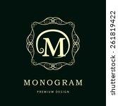 monogram design elements ...   Shutterstock . vector #261819422
