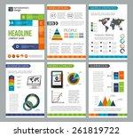 set of corporate business... | Shutterstock .eps vector #261819722