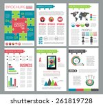 set of corporate business... | Shutterstock .eps vector #261819728