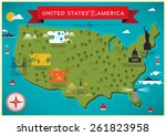 map of united states of america ... | Shutterstock .eps vector #261823958