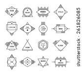 hipster primitive label. set... | Shutterstock .eps vector #261826085