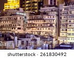 Apartment Buildings At Night In ...