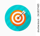 target flat icon with long... | Shutterstock .eps vector #261837485